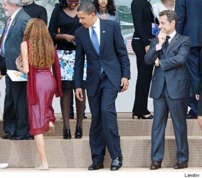 obama, sarko, fille